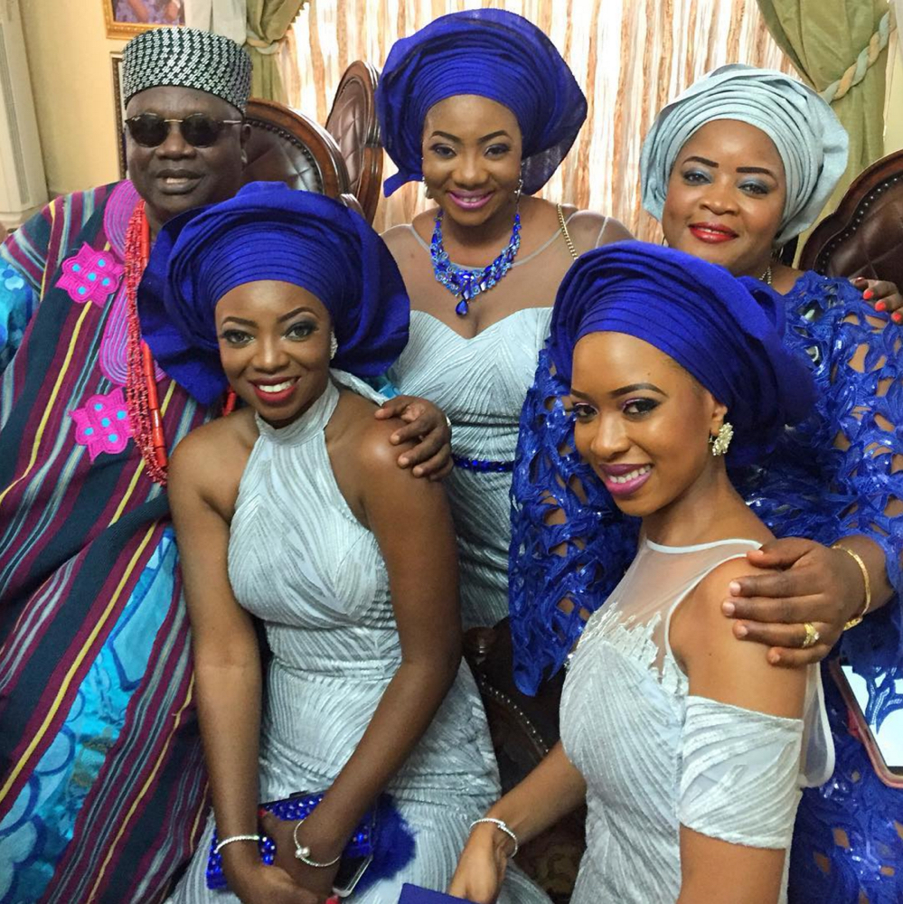 Davido's sister Coco Adeleke and Caleb Adaji Traditional Wedding_4