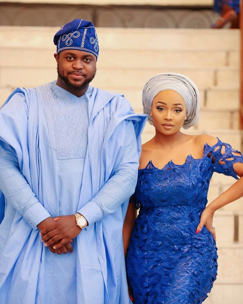Davido's sister Coco Adeleke and Caleb Adaji Traditional Wedding_7