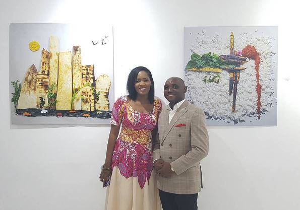Denrele (Founder and Curator of Rele Gallery) & Gbenga Awomodu