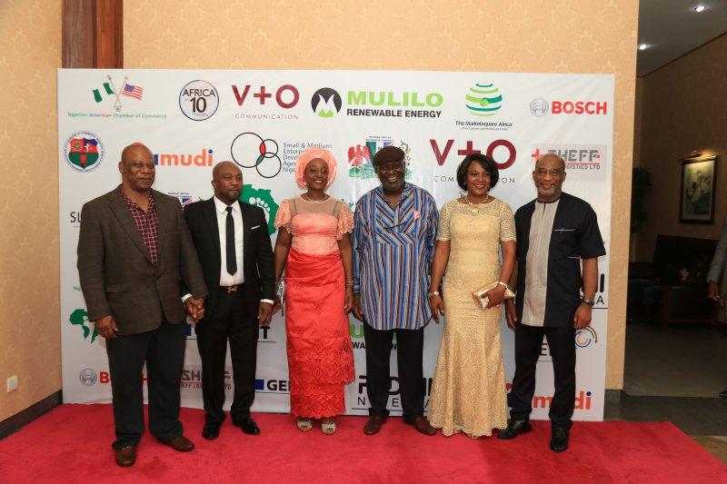 : L-R. Chris Arima, Osita Oparaugo, Ede & Ositah Egbuche, Titilayo Oyebolu and Frank Edozie