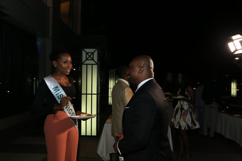 Leesi Peter-Vigboro Miss Nigeria 2015 and Barrister Osita Oparaugo MD. Footprint to Africa.