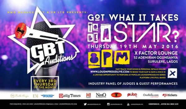 GBTAUDITIONS MAY 2016