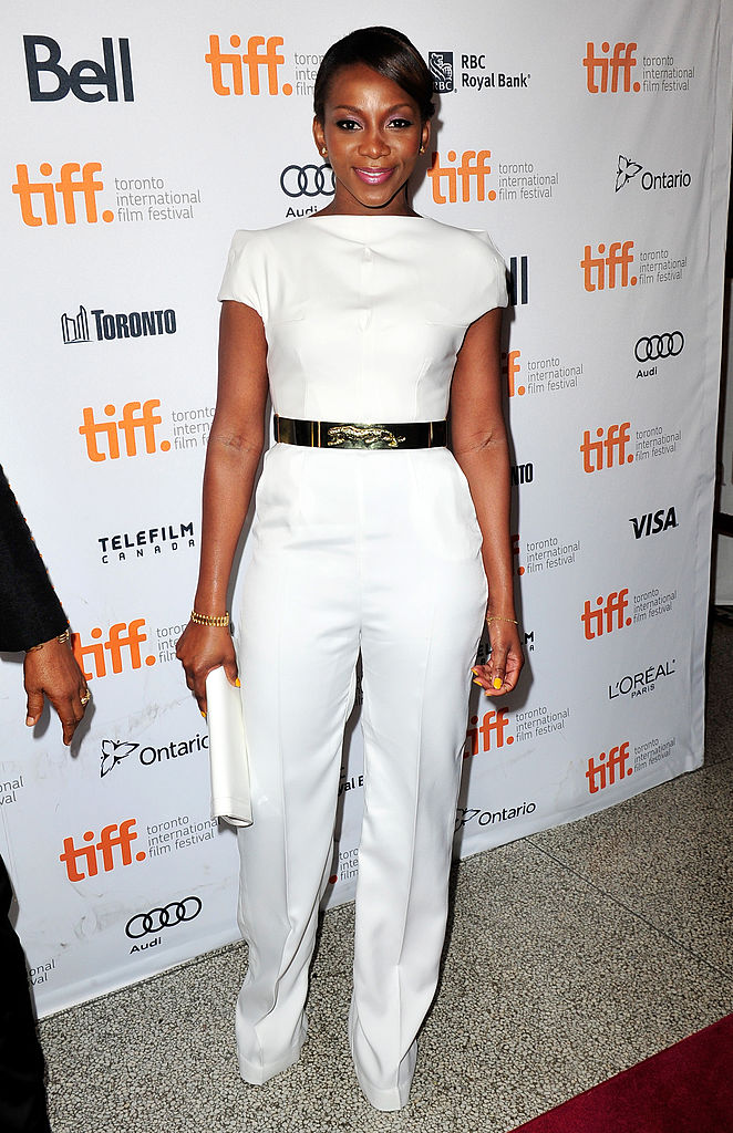 "TORONTO, ON - SEPTEMBER 08: Actress Genevieve Nnaji arrives at the ""Half Of A Yellow Sun"" Premiere during the 2013 Toronto International Film Festival at the Winter Garden Theatre on September 8, 2013 in Toronto, Canada. (Photo by Jerod Harris/Getty Images)"