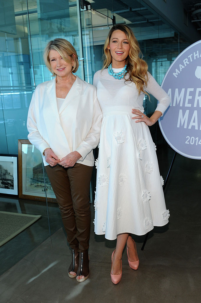 NEW YORK, NY - NOVEMBER 08: Martha Stewart and Blake Lively attend the Martha Stewart American Made Summit on November 8, 2014 in New York City. (Photo by Andrew Toth/Getty Images for Martha Stewart Living Omnimedia)