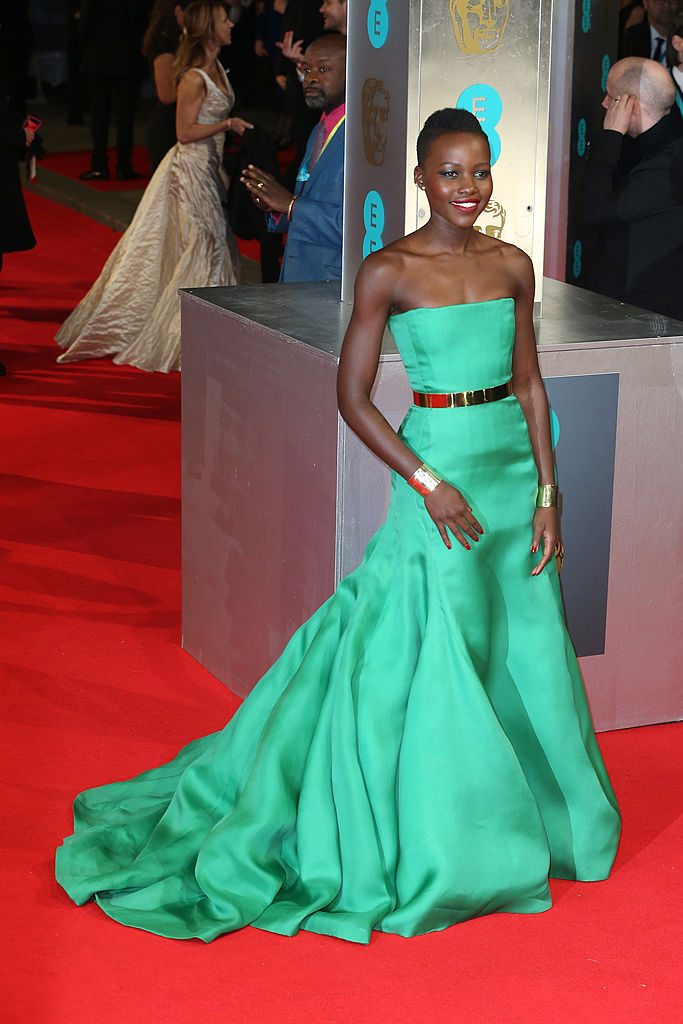 LONDON, ENGLAND - FEBRUARY 16: Actress Lupita Nyong'o attends the EE British Academy Film Awards 2014 at The Royal Opera House on February 16, 2014 in London, England. (Photo by Chris Jackson/Getty Images)