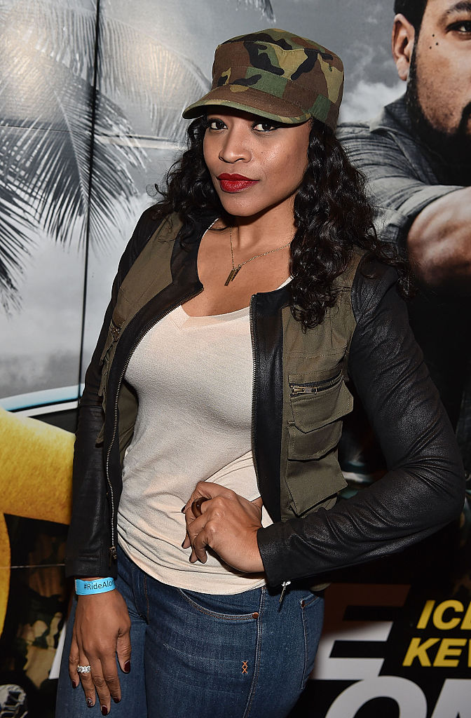 "ATLANTA, GA - JANUARY 13:  Monyetta Shaw attends ""Ride Along 2"" advance screening at Regal Cinemas Atlantic Station on January 13, 2016 in Atlanta, Georgia.  (Photo by Paras Griffin/Getty Images for Universal Pictures)"