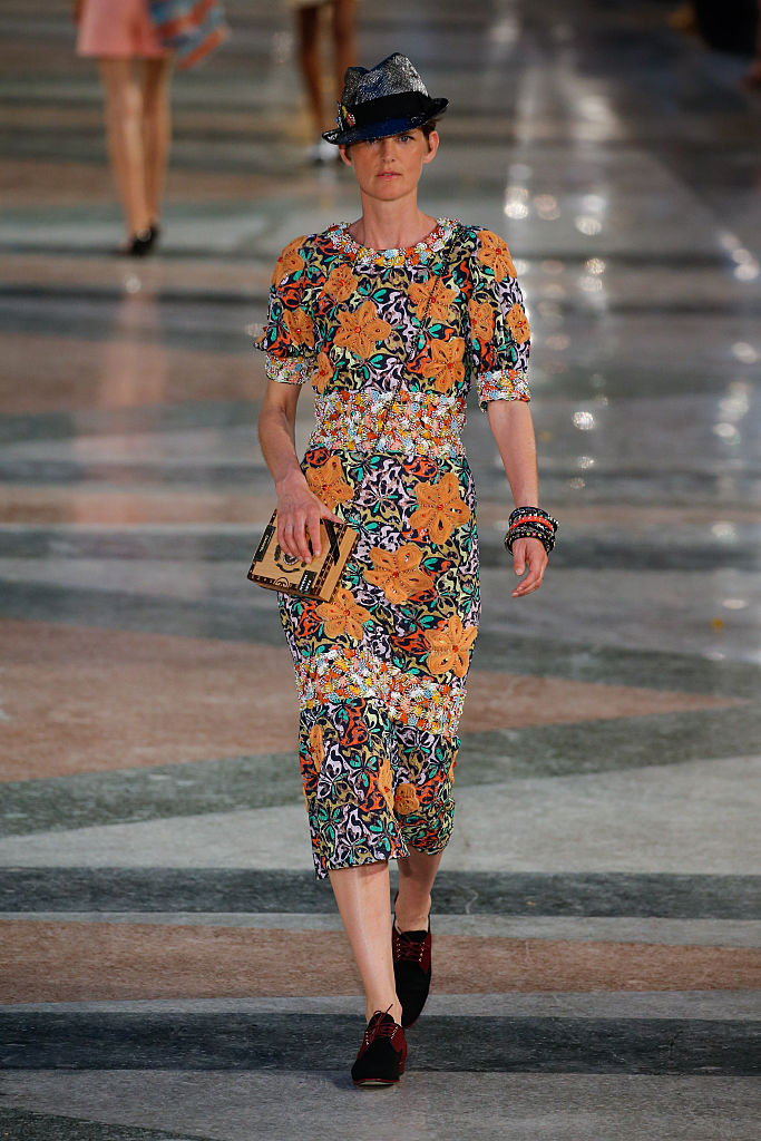HAVANA, CUBA - MAY 03: Stella Tennant walks the runway during Chanel Cruise Collection 2016/2017 on May 3, 2016 in Havana, Cuba. (Photo by Thomas Concordia/Getty Images)