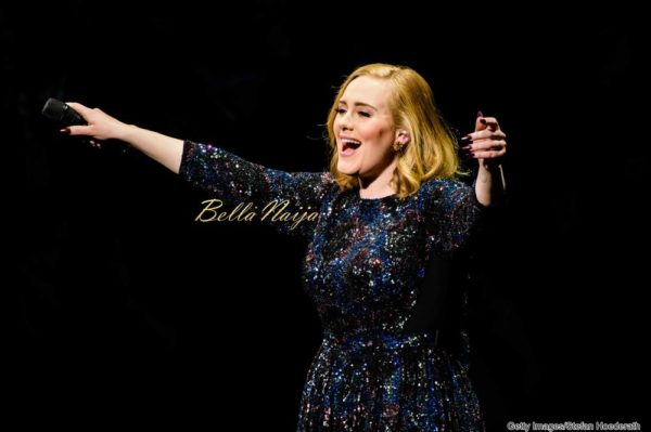 BERLIN, GERMANY - MAY 07: Singer Adele performs live on stage during a concert at Mercedes-Benz Arena on May 07, 2016 in Berlin, Germany. (Photo by Stefan Hoederath/Getty Images for September Management