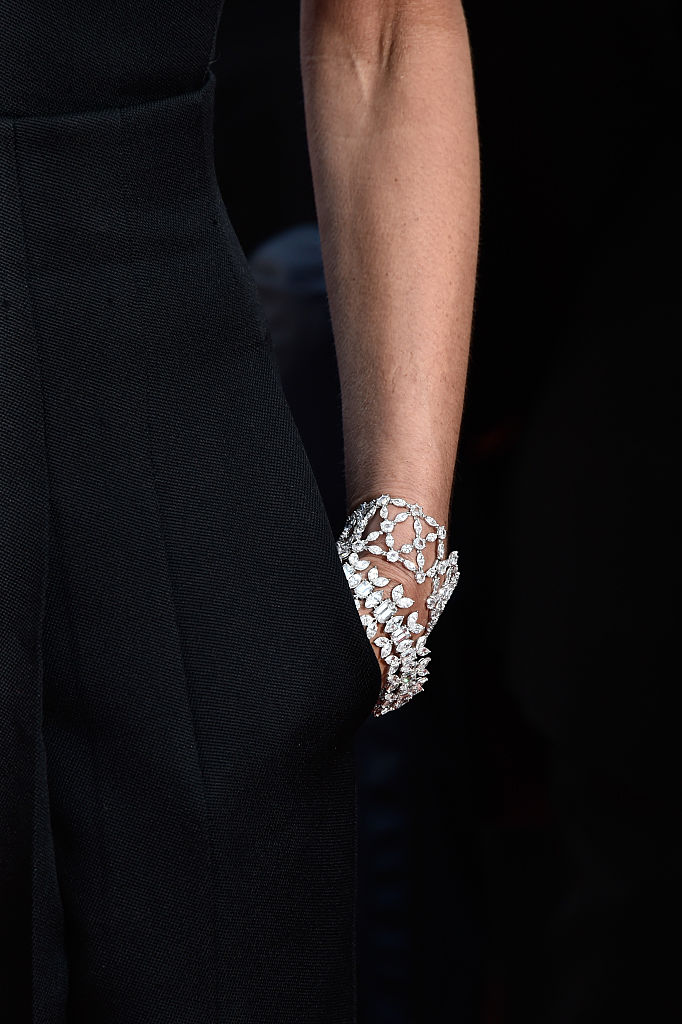 "CANNES, FRANCE - MAY 11:  Victoria Beckham, bracelet detail, attends the ""Cafe Society"" premiere and the Opening Night Gala during the 69th annual Cannes Film Festival at the Palais des Festivals on May 11, 2016 in Cannes, France.  (Photo by Pascal Le Segretain/Getty Images)"