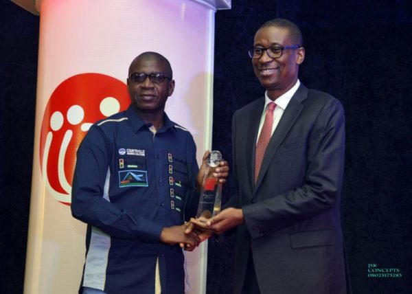 GMD Adebola Akindele Courteville Business Solutions Plc won DELIVERING EXCELLENCE IN LEADERSHIP awarded by His Excellency Honorable Minister of Industry, Trade and Investment Dr Okechukwu Enelamah