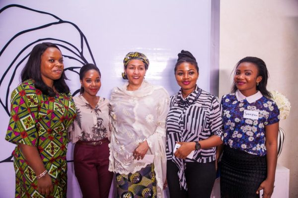 H.E. Hon. Min. Amina Mohammed (Minsiter of Environment) poses with attendees after her speech