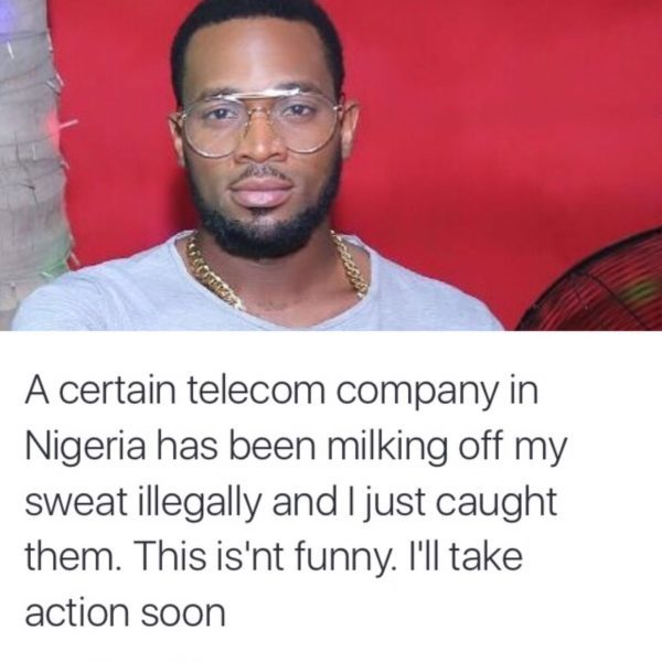 D'banj Vows To Take Legal Action Against A Telecoms