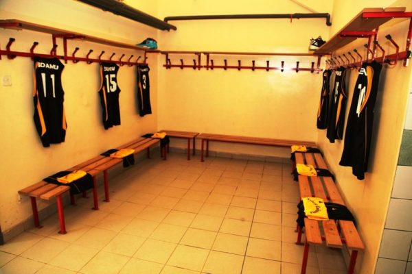 The Atlantic Conference Dressing Room at the DStv Premier Basketball league All Star game held inside the indoor hall of the National Stadium, Abuja
