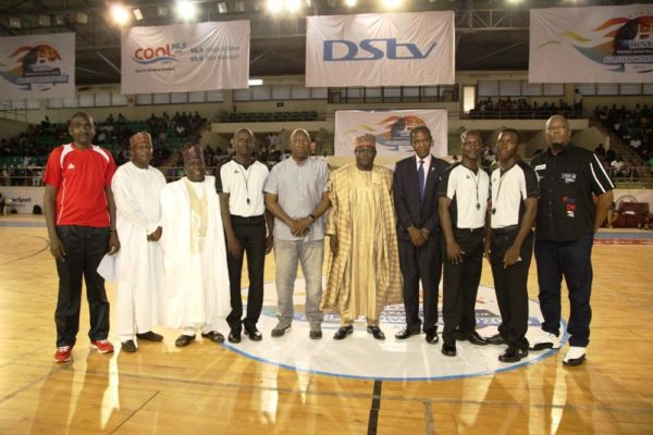 Dignitaries and special guests at the DStv Premier Basketball league All Star game