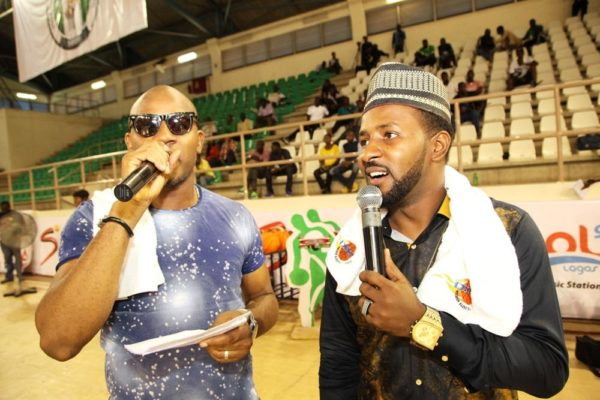 MC Big Mo of Wazobia 99.5 Abuja and another comedian