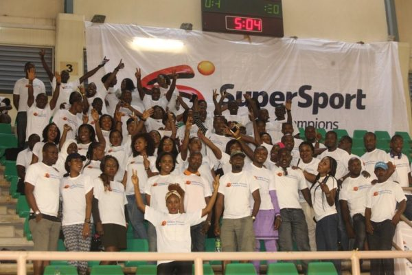 A cross section of the crowd at the DStv Premier Basketball league All Star game.