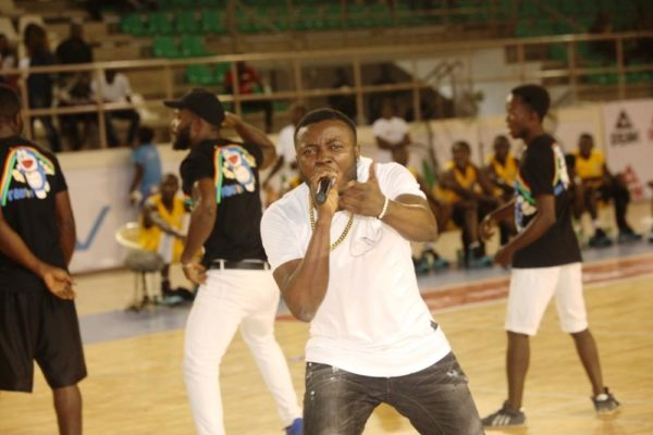 Sekem Master, MC Galaxy wows the crowd at the DStv Premier Basketball league All Star game