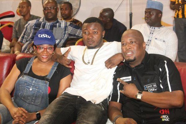 PR Manager, MultiChoice Nigeria, Caroline Oghuma, MC Galaxy and Martin Mabutho