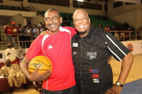 General Manager, Marketing, MultiChoice Nigeria, Martin and President, Nigeria Basketball Federation Tijjani Umar
