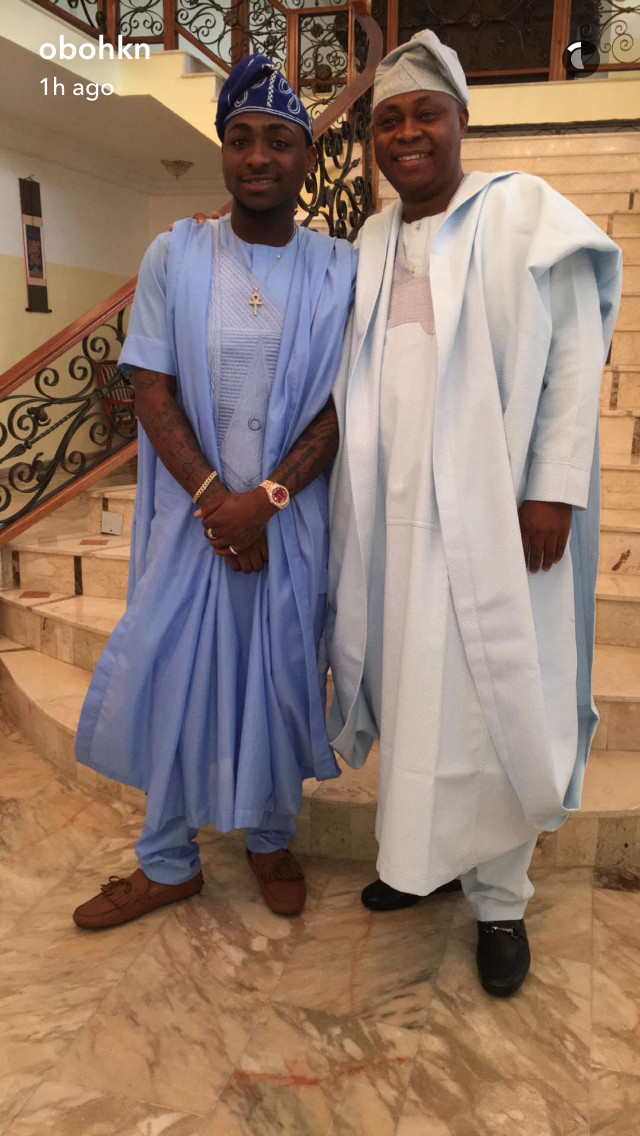 Yoruba Angels! Davido and His Dad Deji Adeleke Totally Look
