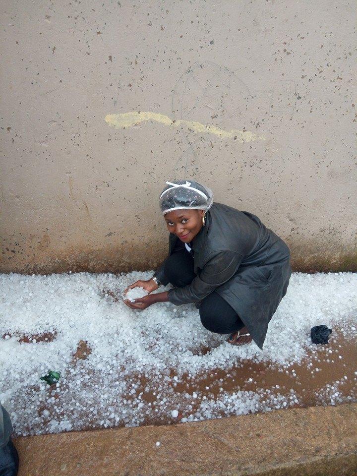 Ice Rain, Hail Storm Hits Mubi Adamawa State Nigeria [PHOTOS]
