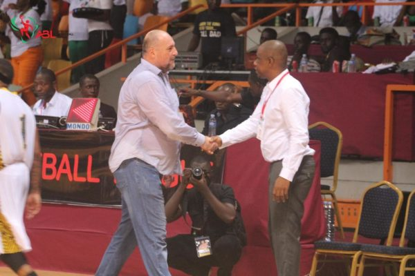 Izobe Coach and Teejay of Lagos Islanders