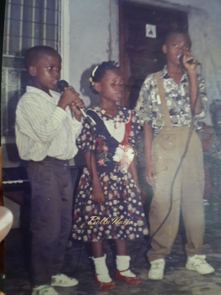 Kuyik says: This is a photo of my husband and his siblings giving a special number on my brother's 1st birthday on 30th April 1996. He is the cute dude in white.