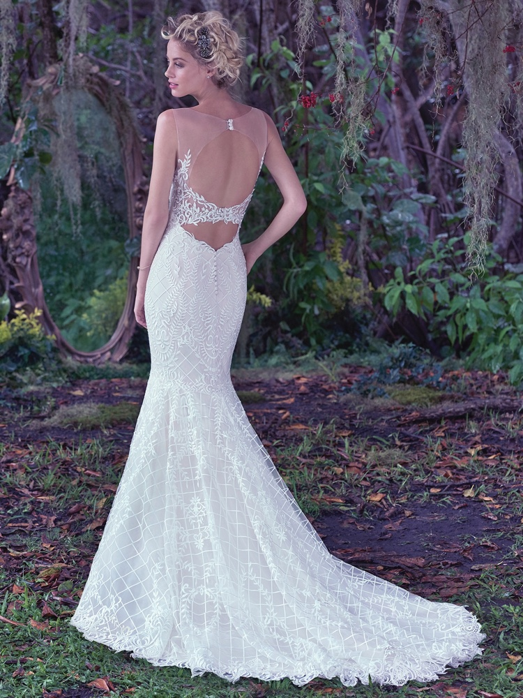 Maggie-Sottero-Analeigh-BN Bridal -BellaNaija-2016-Back
