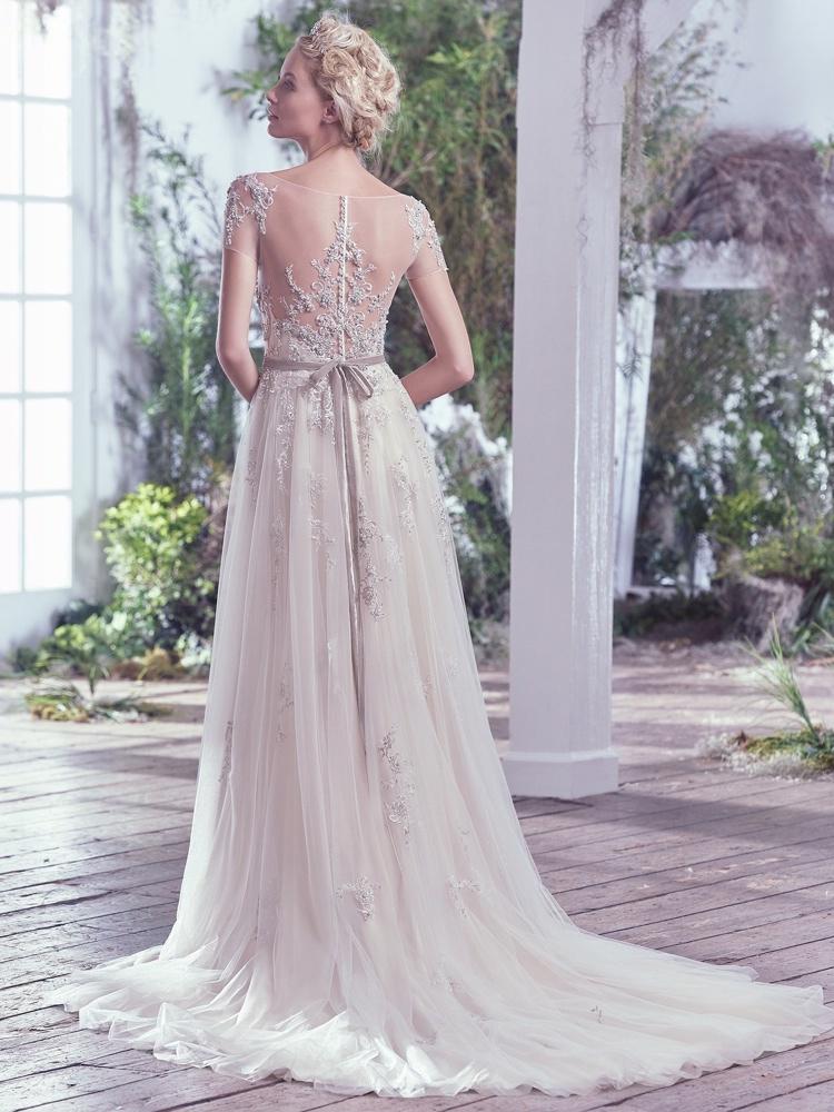 Maggie-Sottero-Kylie--BN Bridal - BellaNaija - 2016-Back
