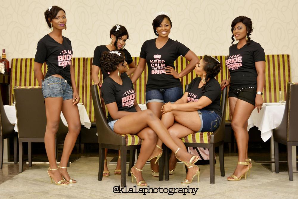 Nigerian Bride and Bridesmaids_BellaNaija Weddings_Klala 1