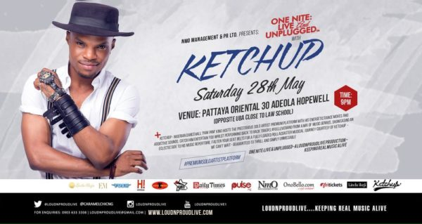 ONLU with KETCHUP Saturday 28th May 2016