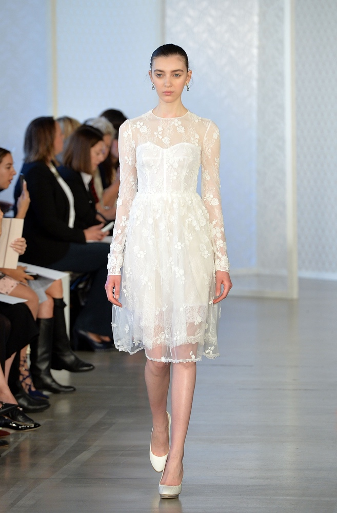 Can you take it up a notch from crop tops to tassels bn for Oscar de la renta short wedding dress