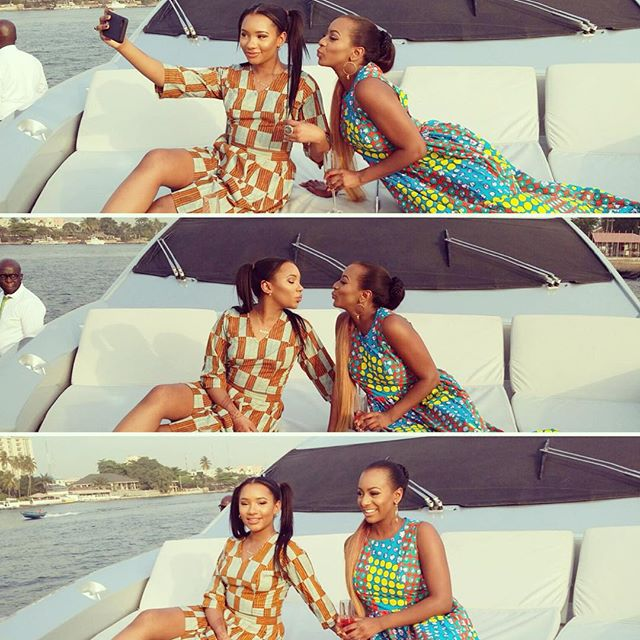 Otedola-DJ-Cuppy and Temi