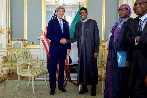Muhammadu Buhari and John Kerry
