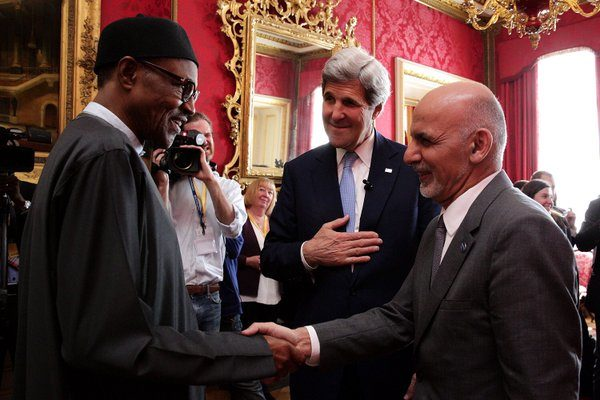PMB meets Afghan President Ashraf Ghani during the Anti-Corruption Summit at Lancaster House