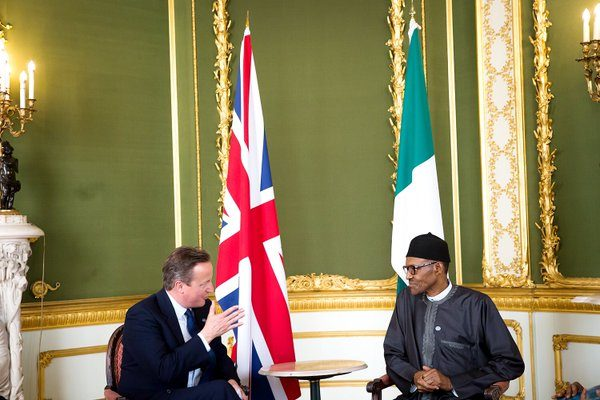 President Buhari this afternoon held a Bilateral Meeting with U.K. Prime Minister David Cameron, in London