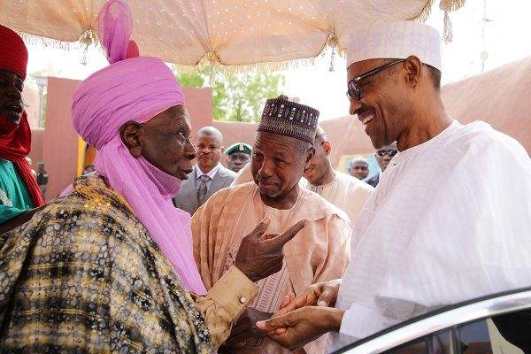 President Buhari was on Sunday hosted to a lunch by the Emir of Daura HRH Alhaji Faruk Umar Faruk, at the Emir's Palace1