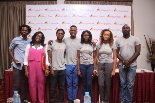 Bankole Oluwafemi of BigCabal Media and Isoken Ogiemwonyi of Zazaii with the PrognoStore team