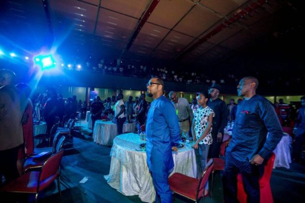 Ramsey Nouah in the crowd