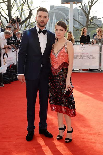 LONDON, ENGLAND - MAY 08:  Anna Kendrick (R) and Justin Timberlake attend the House Of Fraser British Academy Television Awards 2016 at the Royal Festival Hall on May 8, 2016 in London, England.  (Photo by Dave J Hogan/Dave J Hogan/Getty Images)