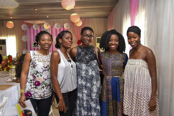 - L-R Somi of Midas Naturals, Notey Akpotive, Bimbo Smith of SoSmith bags, Nibi Lawson of The Kinky Apothecary & Ann Ogunsulire, GM SmartMark