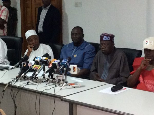 Tinubu and Labour Leaders