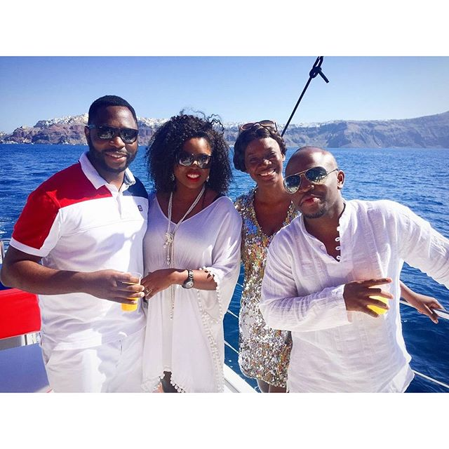 Titi Sonuga Seun Williams' Santorini Fun 3