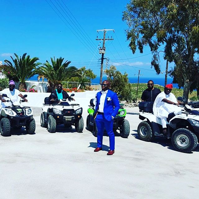 Titi Sonuga Seun Williams' Santorini Wedding 1