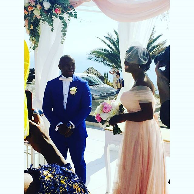Titi Sonuga Seun Williams' Santorini Wedding 5