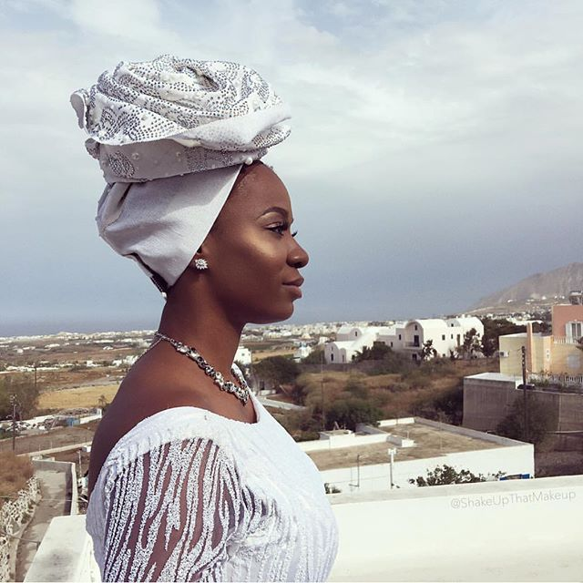 Titi Sonuga Seun Williams' Santorini Wedding 6