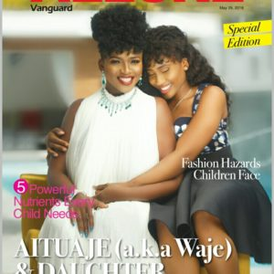 Waje and Her Daughter Emerald Team Up for Vanguard Allure's Children's Day Special Edition