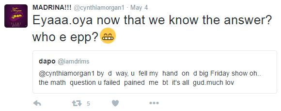 cynthia morgan clap back 2