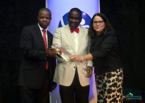 Guinness Nigeria #3 2016 Best Company to Work for in Nigeria! Sesan Sobowale, Corporate Relations Director, Guinness Nigeria Plc, Ben Langat, MD Nigerian Bottling Company and Monica Peach, Human Resources Director, Guinness Nigeria