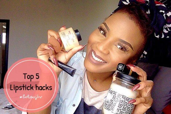 Lola OJ - BN Beauty - 5 Lipstick Hacks - BellaNaija - 2016